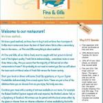 Restaurant website home page