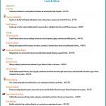 Restaurant website menu page