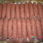 Arrange the bulgur kebabs on a tray.