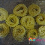 Vermicelli pasta are sold in bundles like these or crumbled in smaller pieces.