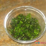 Half cup of finely chopped mint.