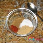 Prepare the spices in a small bowl.