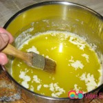 In a small saucepan, melt the butter. Do not over heat.