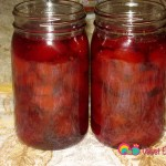 Quince jam preserved in canning jars.