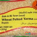 Add the crushed peeled wheat or yarma.